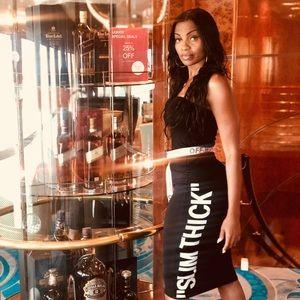 Slim thick tubes dress